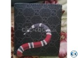 Gucci King snake wallet double bidfold with cardholders