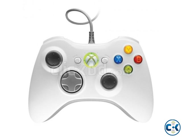 Microsoft Xbox 360 Wired Controller for PC- White | ClickBD large image 0