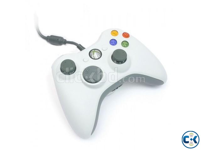 Microsoft Xbox 360 Wired Controller for PC- White | ClickBD large image 1