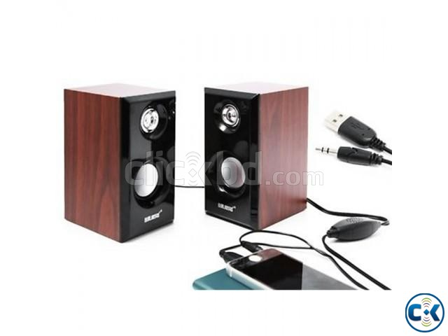 JITENG 2.0 Woodiness Multimedia USB Speakers | ClickBD large image 1