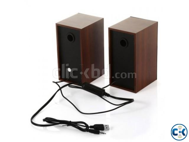JITENG 2.0 Woodiness Multimedia USB Speakers | ClickBD large image 2