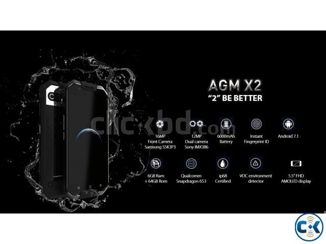 AGM X2 Rugged Phone Android 7.1 6GBRAM 64GB ROM Pre-Order | ClickBD large image 1