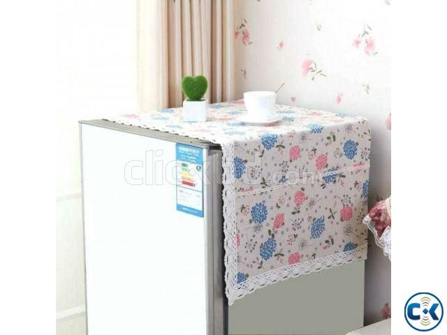 Dustproof Fridge Cover Room decoration with side pocket | ClickBD large image 0