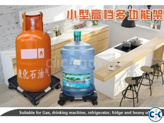 Multifunction Movable Base Stand Holder Trolley with wheel | ClickBD large image 1