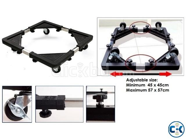 Multifunction Movable Base Stand Holder Trolley with wheel | ClickBD large image 3