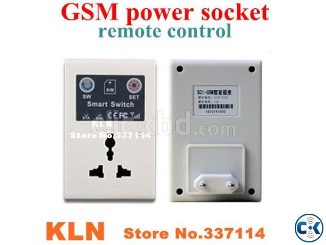 GSM SMS Control Wireless Socket | ClickBD large image 1