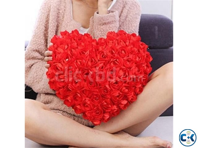Home Decore Red Heart shape Love Pillow | ClickBD large image 0