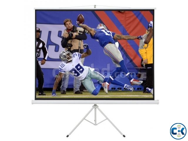 Tripod Projector Screen 84 x 84  | ClickBD large image 0
