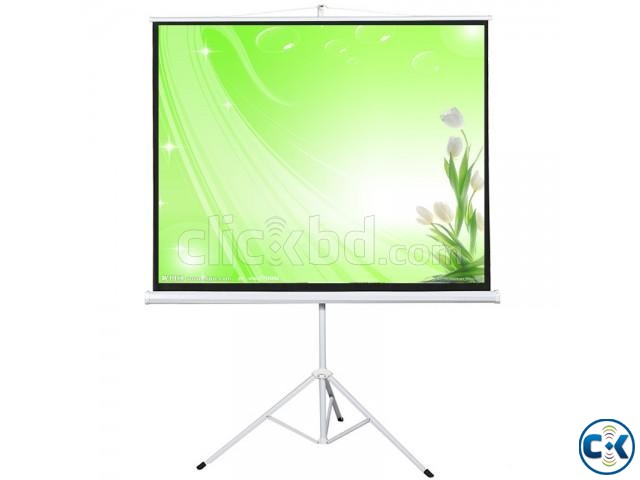 Buy 96 x 96 Portable Tripod Projector Screen | ClickBD large image 0