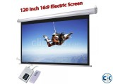 150-inch HD Motorized Projection Screen