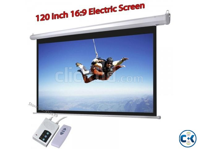 150-inch HD Motorized Projection Screen | ClickBD large image 0
