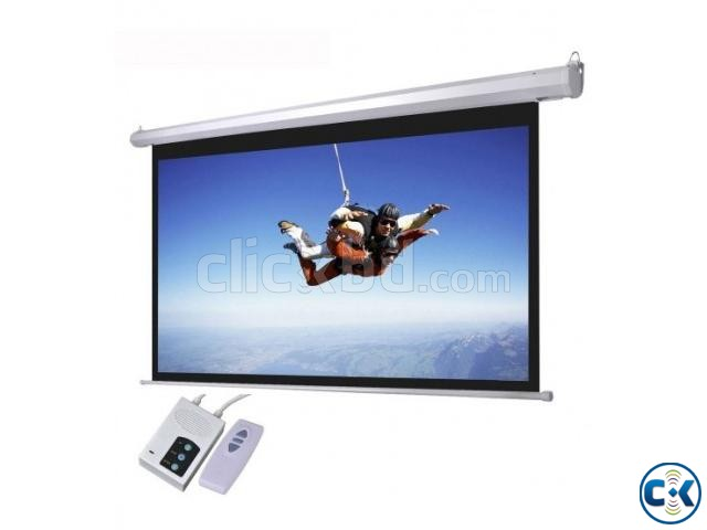 Motorized Electric 96 x 96 Projection Screen | ClickBD large image 0