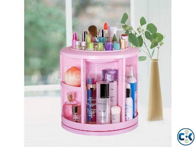 360 Degree Desktop Cosmetic Makeup Jewelry Box Storage Shelf | ClickBD large image 0