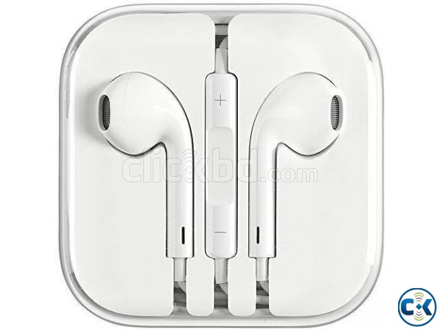 Apple Earphones White | ClickBD large image 0