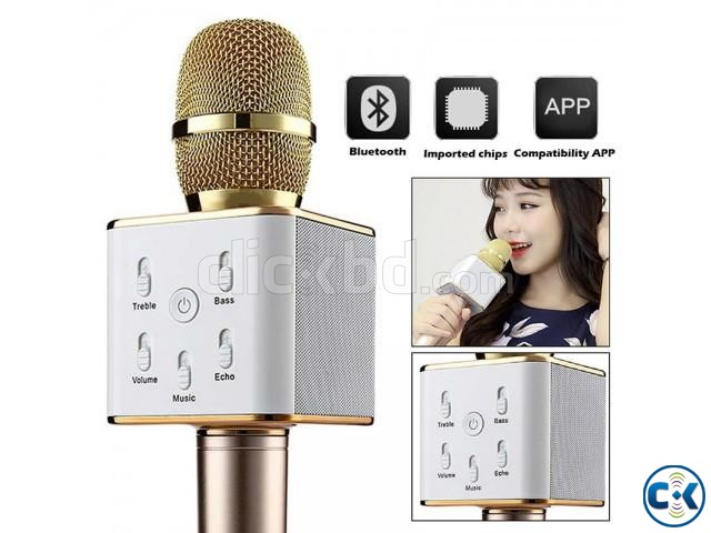 Wireless Bluetooth Microphone Speaker KaraokeTuxun Q7 | ClickBD large image 0