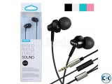 REMAX RM-501 Earphone with Mic - Black