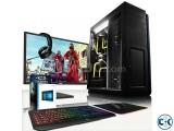 GAMING PC Core i3 4GB 250GB 17 LEDc