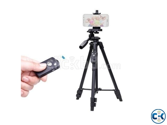 Aluminum Tripod With Bluetooth Remote for Camera and Mobile | ClickBD large image 0