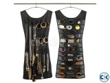 Dual Sides Dress Hanging Jewelry Organizer Space saving