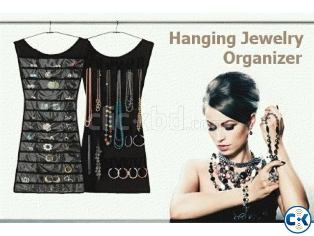 Dual Sides Dress Hanging Jewelry Organizer Space saving | ClickBD large image 1