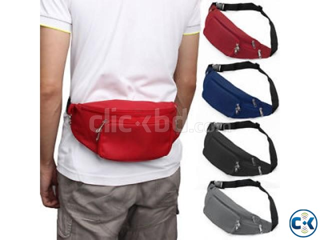 Travel Fashion Check Waist Bag Sports Mobile Bicycling | ClickBD large image 1