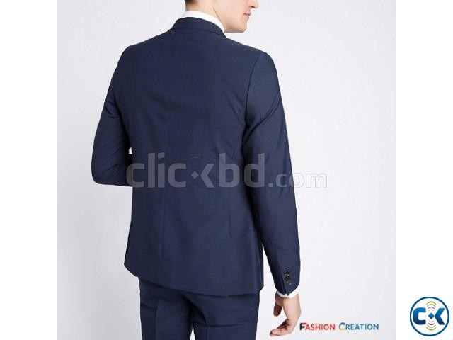 M S Limited Edition Blue Checked Modern Slim Fit Blazer | ClickBD large image 2