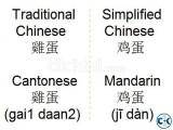 Chinese Language in Uttara