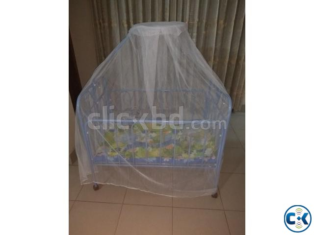 Baby Cot with Bedding and Mosquito Net | ClickBD large image 0
