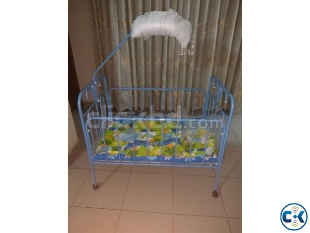 Baby Cot with Bedding and Mosquito Net | ClickBD large image 1