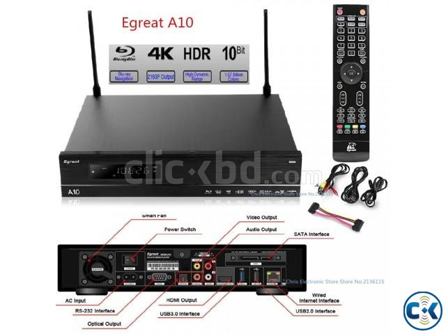 Egreat A10 Blu-ray HDD Media Player 4K with Wi-Fi | ClickBD large image 1
