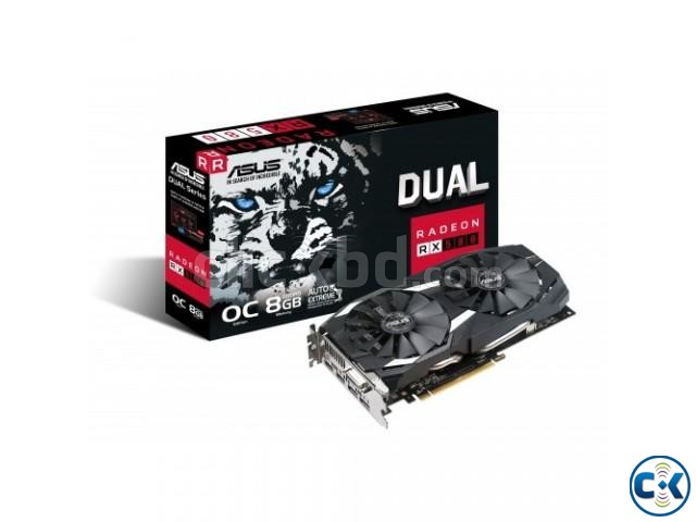 Asus Dual series Radeon RX 580 OC 8GB GDDR5 Graphics Card | ClickBD large image 0