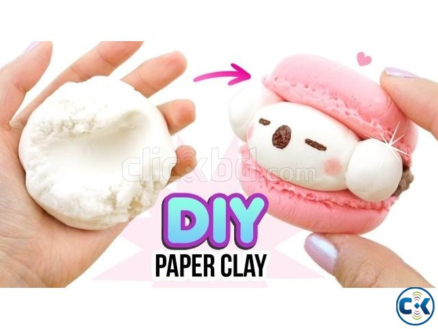 PaperClay 4Color Educational Soft clay Kids Toys Creative | ClickBD large image 0