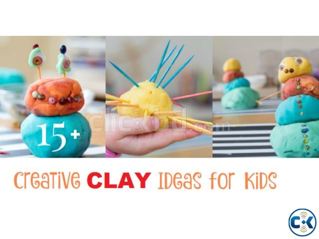 PaperClay 4Color Educational Soft clay Kids Toys Creative | ClickBD large image 3