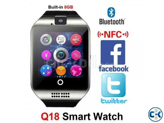 Q18 Sim supported Smart Mobile Watch Sim Gear intact Box | ClickBD large image 1