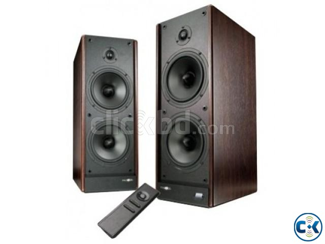 Microlab Solo 9C Wooden Cabinet Multimedia Stereo Speaker | ClickBD large image 0