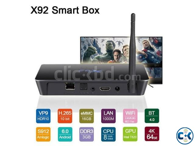 X92 Amlogic S912 OctaCore Android 7.1 TV Box | ClickBD large image 3