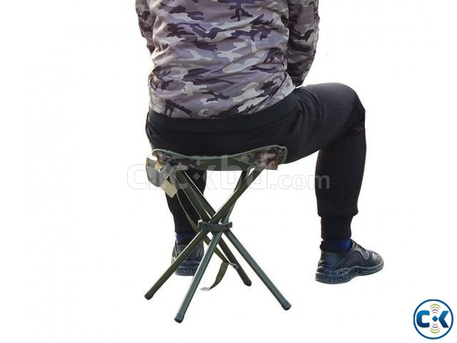 Portable Folding Stool Square Chair Picnic Hiking Beach | ClickBD large image 1