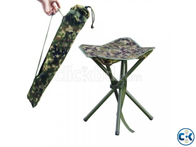 Portable Folding Stool Square Chair Picnic Hiking Beach | ClickBD large image 2