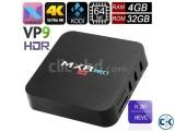 MXRPro 4GB 32GB Android 7.1.1 4K Tv Box HDR VP9 KODI 17.6