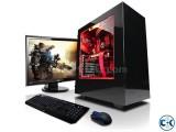 Core i3 Gaming pc 4GB 1000GB 17 LED