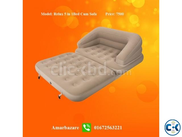 Air Sofa cum Bed jilong 5 in 1 | ClickBD large image 0