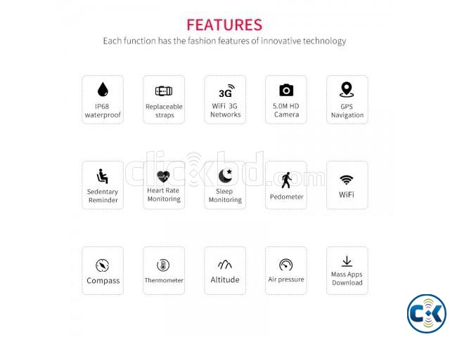 Microwear H1 android 4.4 Smart watch | ClickBD large image 1