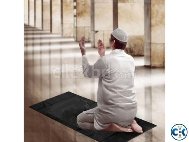 Portable Black Foam Soft Janamaz Muslim Prayer Mat | ClickBD large image 0