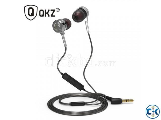 QKZ DM9 Zinc Alloy HiFi Metal Earphone With Mic | ClickBD large image 1