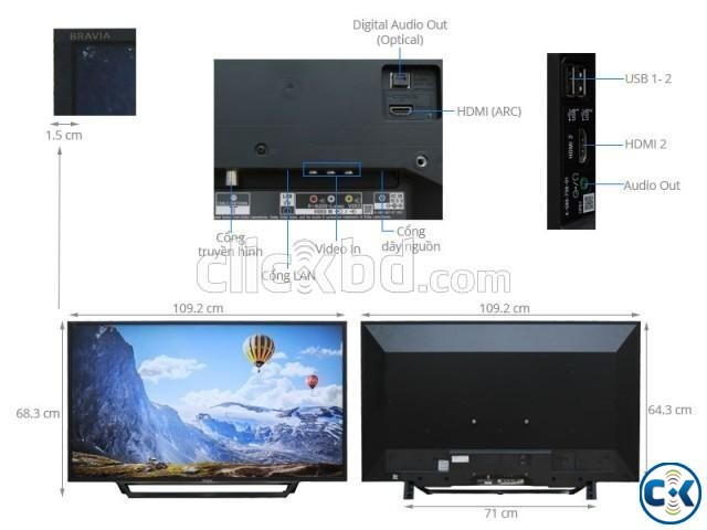 Sony Bravia X7000E 55 Flat 4K UHD Wi-Fi Smart Android TV | ClickBD large image 1