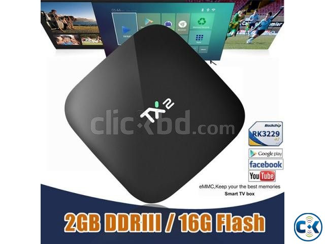 Tanix TX2 Android 6.1 2G 16G TV Box UK PLUG | ClickBD large image 2