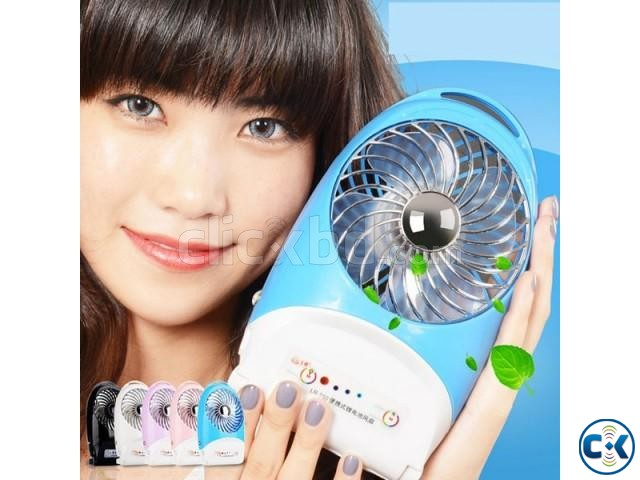 Fashion Intelligent Fan with Light Lithium battery | ClickBD large image 0
