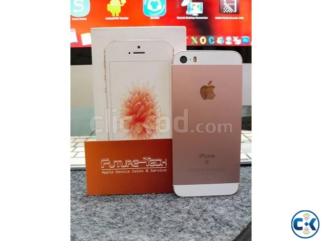 Brand new condition iphone SE 32GB Rose Gold with all | ClickBD large image 0