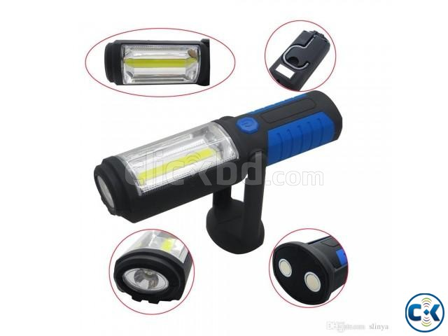 USB Rechargeable LED Flashlight Torch 360 degree | ClickBD large image 0