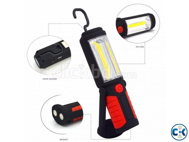 USB Rechargeable LED Flashlight Torch 360 degree | ClickBD large image 1